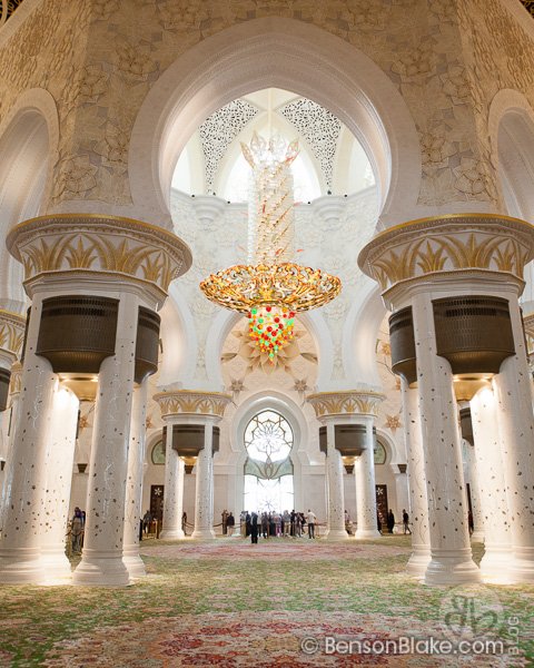 Inside the Grand Mosque in Abu Dhabi, UAE