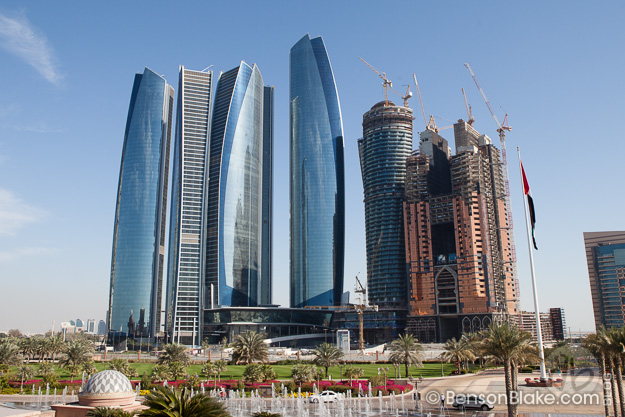 Construction in Abu Dhabi, near the Emirates Palace