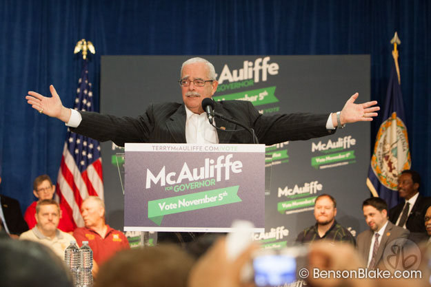 U.S. Rep. Gerry Connelly, D- 11th District speaks at McAuliffe rally in Dale City, VA