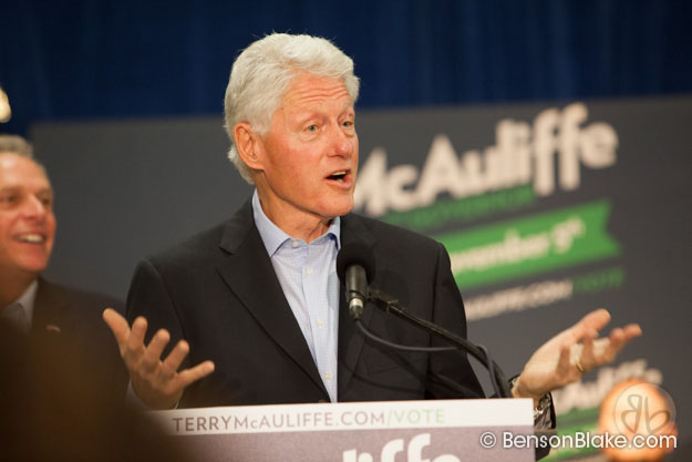 Bill Clinton speaks at McAuliffe rally in Dale City, VA