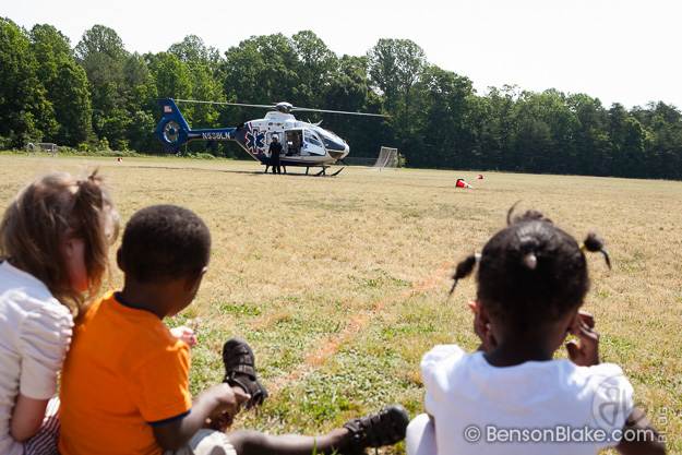 MedEvac helicopter at Richmond County Elementary