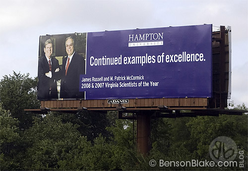 Billboard on I-64