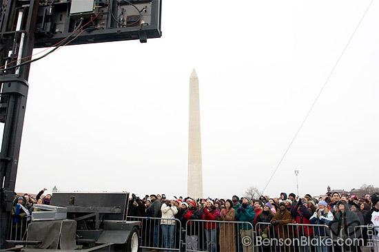 Crowd near the Washington Monument