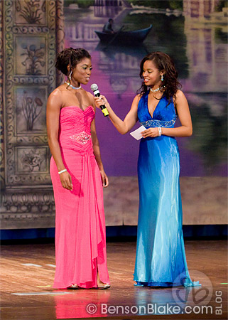Dinai answering a question during the pageant