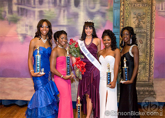 Miss Hampton University, Nikole Churchill (center), and runner-ups