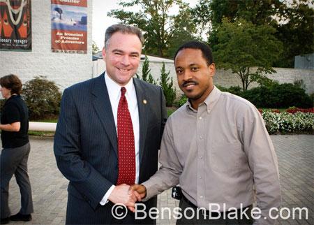 Benson w/ Governor Kaine