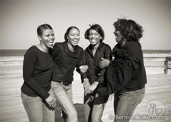 The Baker Sisters laughing