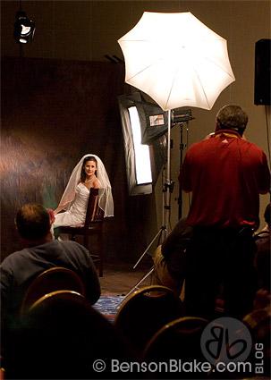 Stephen Dey demonstrating bridal portraits